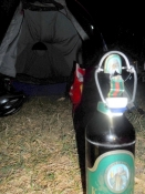 Fred og ølhygge uden for teltet på c-pladsen/Peace and a beer outside the tent on the campsite