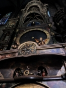 Orgelpulpituret set nede fra gulvet/The organ loft seen from the nave floor.
