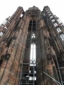 Domkirken har kun ét tårn, det søndre tårn blev aldrig bygget/The only tower of the cathedral