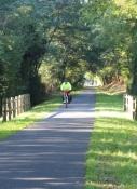 Perfekter Radweg auf der ehemaligen Bahntrasse