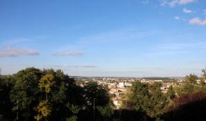Blick von Angoulême ins Umland