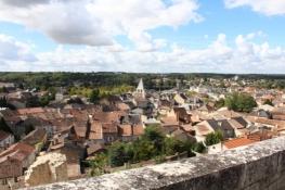 Chauvigny, Blick auf die Unterstadt