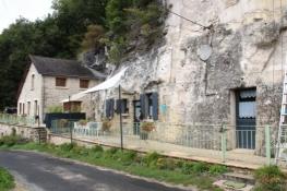 Felsenhäuser im Vallée de Courtineau