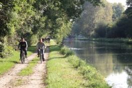 Der Weg am Kanal ist heute viel genutzt