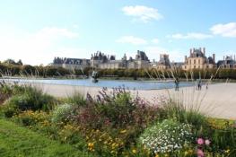 Schloss Fontainebleau, Parkseite