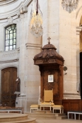 Versailles, Kirche Saint-Louis, der Bischofsstuhl