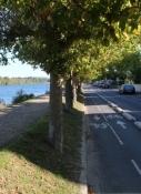 Radweg am Ufer der Seine