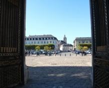 Compiègne, Blick vom Schloss zur Stadt