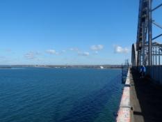Et kig tilbage mod Sjælland fra Storstrømsbroen/A view towards Zealand from the Great Stream Bridge
