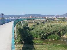 Radbrücke über den Llobregat vor Barcelona