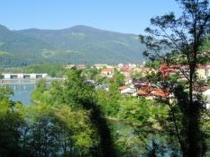 Blick zurück auf Dravograd
