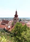 Blick vom Schloss in Ptuj auf die Altstadt