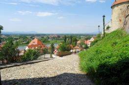 Blick vom Südtor des Schlosses in Ptuj