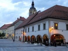 Am Hauptplatz in Varaždin