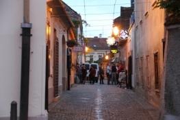 Varaždin, Altstadtkneipe in einer Nebenstraße