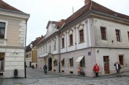 Am Franziskaner Platz in Varaždin