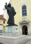 An der Franziskaner Kirche in Varaždin