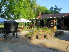 Restaurantterrasse des Hotels in Višnjica