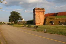 Osijek, Teil der ehem. Festung am Drau-Ufer