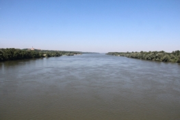 Auf der Brücke zwischen Ilok und Backa Palanka