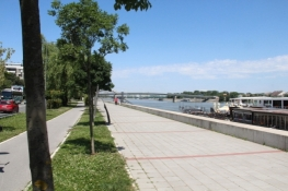 Donaupromenade in Novi Sad
