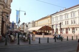 Am Klauzál tér in Szeged