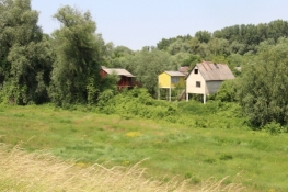 Wochenendhäuser in der Hochwasserzone