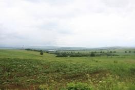 Blick ins verregnete Hornád-Tal