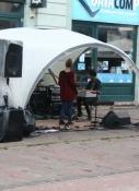 Musiker auf dem City-Festival