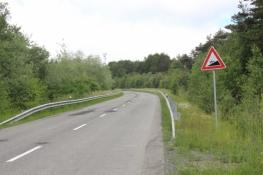 Die letzte Steigung vor der Grenze nach Polen