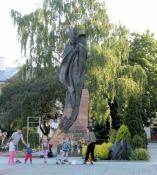 Statue von Johannes Paul II in Nowy Sącz