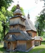 """Holzkirche """"Parafia Matki Bożej Różańcowej"""" in Przydonica"""