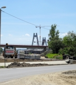 Radweg gesperrt wegen Bauselle