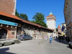 Ein Stück Stadtmauer in Krakau