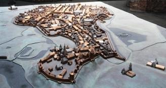 Stadtmodell von Krakau im 15ten Jhdt.