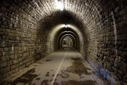 Radweg im Schulenburg Tunnel Hattingen