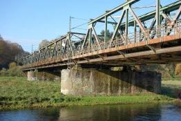 Esienbahnbrücke über die Ruhr in Hattingen (heute S9)
