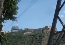 Svævebane i Koblenz til fæstningen Ehrenbreitstein/Cable car in Koblenz to castle Ehrenbreitstein