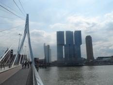 Erasmusbrug spænder over Rhinen, her kaldet Nieuwe Maas/Erasmusbrug spans the socalled Nieuwe Maas
