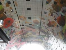 Loftet er også specielt med lejligheder ovenover og udenpå/The ceiling with appartments on top