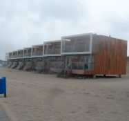 Flytbare huse på selve stranden/Moveable houses on the very beach