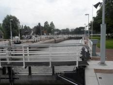 Ved denne sluse begynder Amstel-floden/At this lock the river Amstel begins