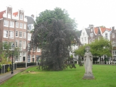 Stilhed i Begijnhof, tidligere beboet af katolske læg-nonner/Begijnhof, a former catholic convent