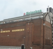 Heineken bryggeriet besøgte vi ikke/The Heineken Brewery we did not visit
