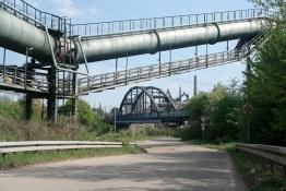 Industrielandschaft am Saar-Radweg in Völklingen