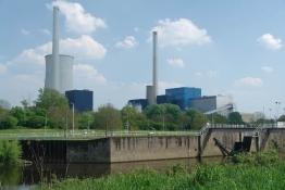 Industrielandschaft an der Saar in Saarlouis-Lisdorf