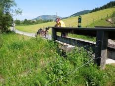 Radweg bei Hochfilzen