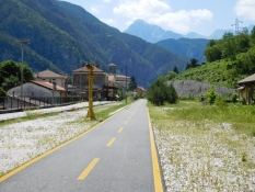 Pontebbana-Bahnradweg: Bahnhof Chiusaforte