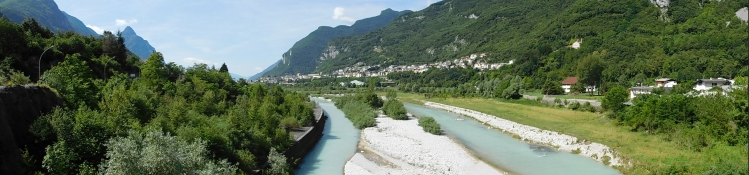 nach Codissago: Piave, Castellavazzo
