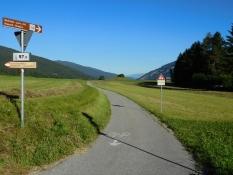 Pustertal Radweg beim Wildpark Toblach